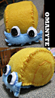 My own cuddly Omanyte by sarah-bera108