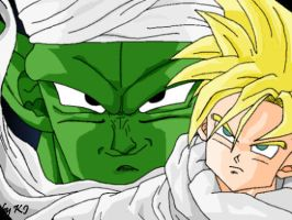 Piccolo and Gohan by MissMinority