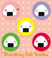 Buttons - Onigiri family by SCCreations