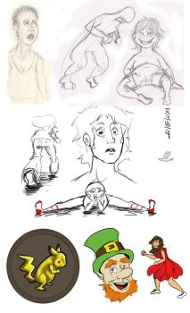 Some doodles by Lunidy