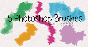 5 Photoshop Brushes by Petra1999