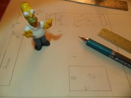 Plans for The Simpsons Project WIP 1:Family Room by kayanah