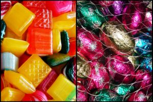 Candy + Chocolate + Eggs by DecoyRobot
