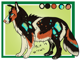 Glow bomb Collie mix-closed by Psitt