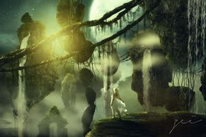 The hanging island by zeiruch