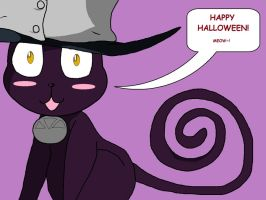 Blair says Happy Halloween! by Blissthehedgehog
