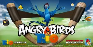 Angry Birds Rio Wallpaper by Dseo