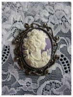Antique Goddess Brooch by karemelancholia