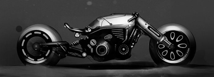 Motorcycle sketch by MikaelLugnegard