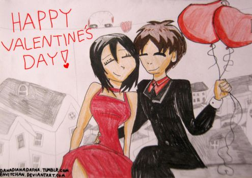 Eremika Valentine's Day card by EnvitChan