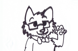 Here Have A Nerd Cat by iW-O-L-F