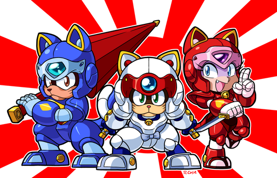Samurai Pizzacats by rongs1234