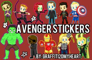 Avengers Sticker Set by Graffiti2DMyHeart