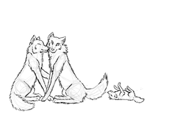 Wolf Mates sketch- by lana2772