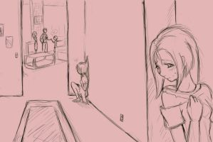 Home: Sketch 1 by BrokenandNeglected