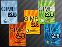 GIMP 2.8 Splash Screen Ideas by JE1403