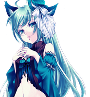 Neko Anime Girl png by theWhiteDEVIL66