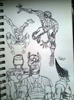 Marvel Heroes by stick-man-11