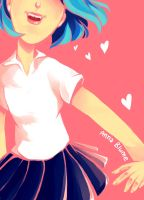 Blue-haired Girl by VulpesLunaris