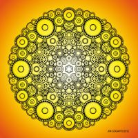 Mandala drawing 37 Coloured v2 by Mandala-Jim