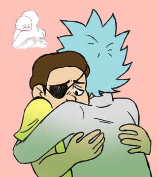 rick and evil morty by Yokiter