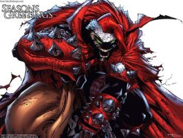 D347H's Spawn Wallpaper Xmas by xxD347Hxx