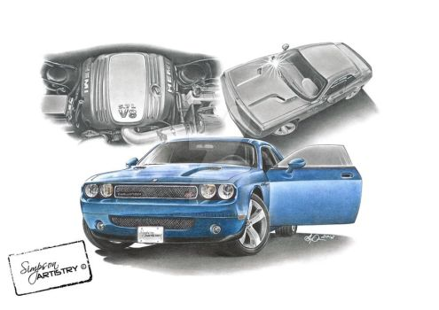 2010 Dodge Challenger by SIMPSONARTISTRY