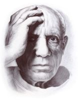 Pablo Picasso - ballpoint pen drawing by i--jay