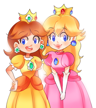 Daisy n Peach by PastelBits