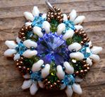 Star-Flakey Pendant Thing by OdinsBeadHall