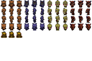 RPG Maker - Withered FNAF Characters by willer111