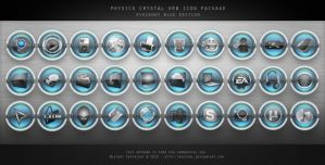CRYSTAL ORB BLUE ICONS by MIATARI