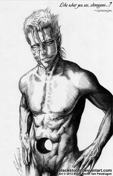GRIMMJOW: Like what you see...? by blackstorm