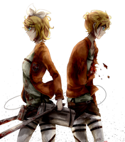 Attack on Kagamine by pianorei