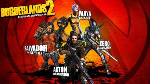 Borderlands 2 Wallpaper - Heroes Pose Again by mentalmars