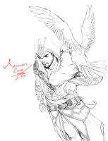 Ezio with Ezio by moto0207