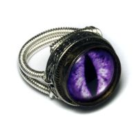 Purple Dragon Eye Ring by CatherinetteRings