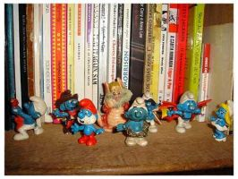 Smurfs And Snarf by isca