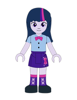 Twilight Sparkle Lego Minidoll by drewstertwin
