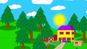 Mimi's cottage, farm barn and coop in her woods by Magic-Kristina-KW