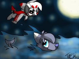 :CE: Sky High and Deep Sea by INSPECTORGH0ST