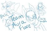 Team Aura Flare Doodles by Seoul-Dew