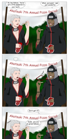 Hidan and Kakuzu:Pizza Trouble by SractheNinja