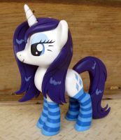 Commission-MLP Figure, Wet Mane Rarity in Socks by LostInTheTrees