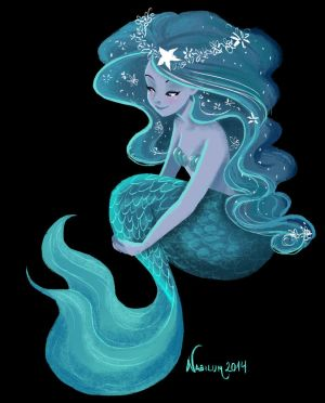 The Blue Mermaid by Nabilum