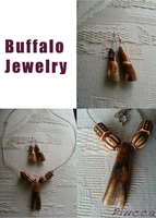 Buffalo Jewelry - Necklace and Earrings. by Piucca