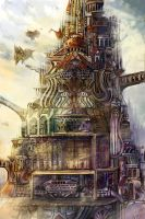 Super high-rise movement tower by Gold-copper