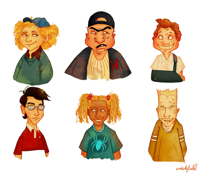 hey arnold characters by Wickfield