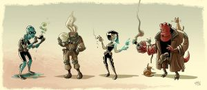Smoking BPRD by mikemaihack