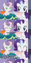 Spoonfeeding Sweetie Belle... Again by Beavernator